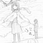 ぶあ(ショート鉛筆漫画の一部)