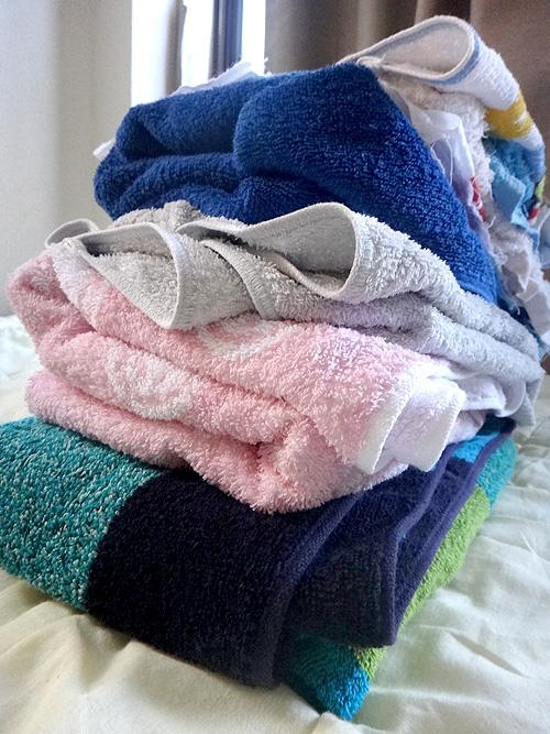 タオルかわいているよ。